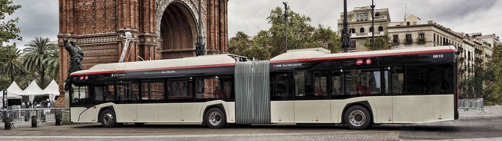 Electric Solaris buses in Barcelona