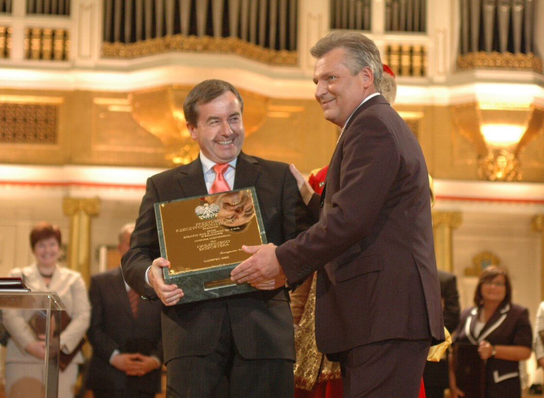 Economic Award of the President of Poland, in the category Exporter