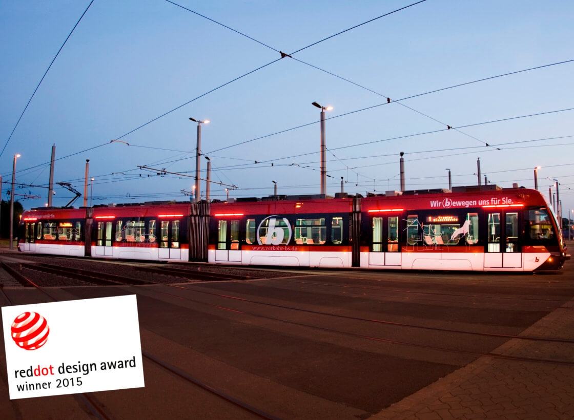 Reddot Award for the Tramino Braunschweig