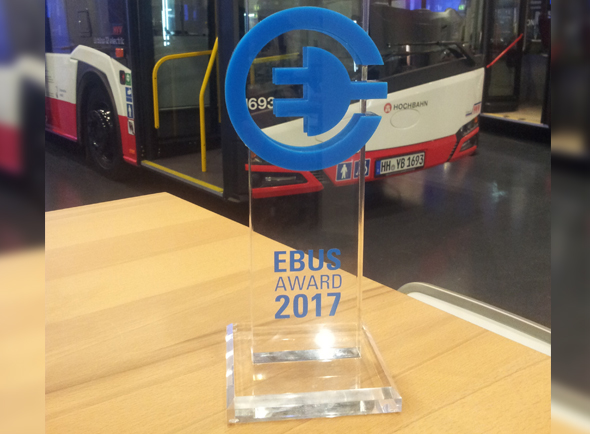 EBUS Award 2017 for Solaris for its contribution into the development of zero-emission public transport